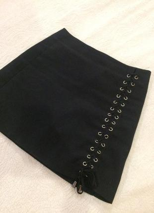 Красивая юбка-трапеция со шнуровкой😍