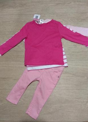 Яркие джинсы-слим для малышки от impidimpi