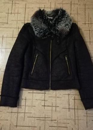 Деми куртка-дубленка