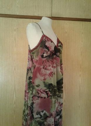 Платье из мелкой трикотажной сетки, xl.5 фото
