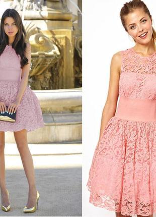 Гипюровое платье пачка asos 46-48