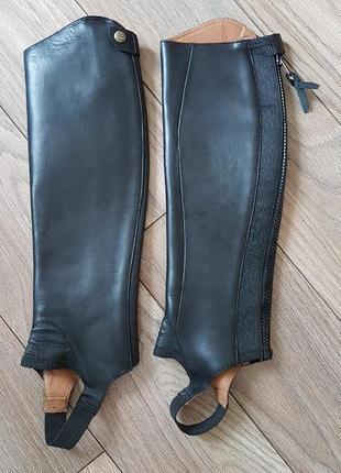 Кожаные краги для верховой езды конного спорта - натуральная кожа xsm сток