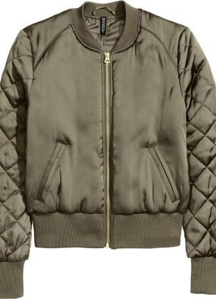 Весеняя куртка бомбер divided by h&m  36/s