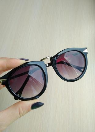 Распродажа очков! красивые стильные солнцезащитные очки круглые ретро винтаж градиент