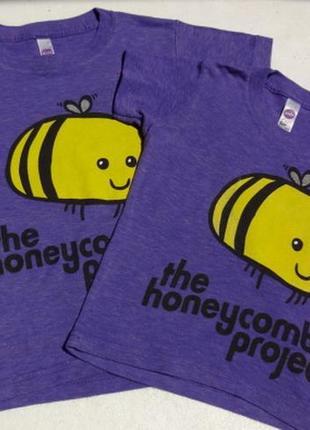 Фемели лук. 2 футболки с пчёлками на 90 см и 110 см