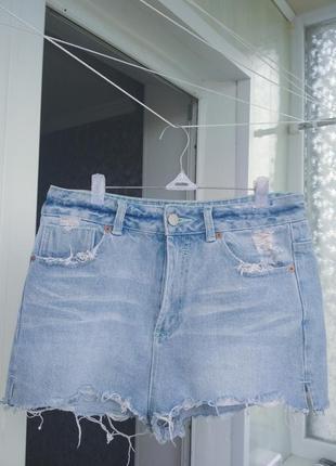 Новые летние джинсовые шорты на высокой посадке