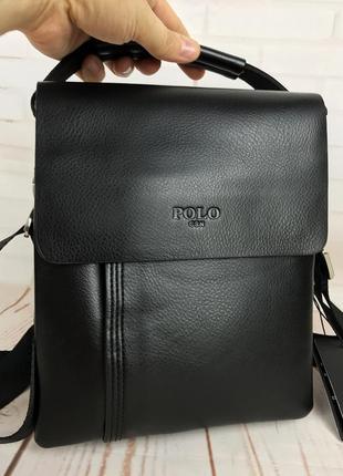 Небольшая мужская сумка - планшет polo с ручкой.мужская барсетка через плечо.  кс43