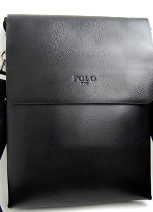 Мужская сумка-планшет polo 9880-3 с ручкой. барсетка мужская. кс31