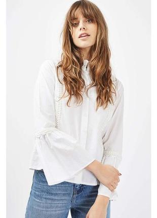 Шикарная белая рубашка от topshop