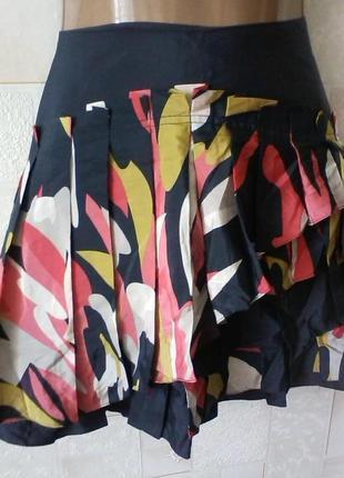 Шелковая юбка в оборки, шелк, оригинал, от ted baker, разм.44