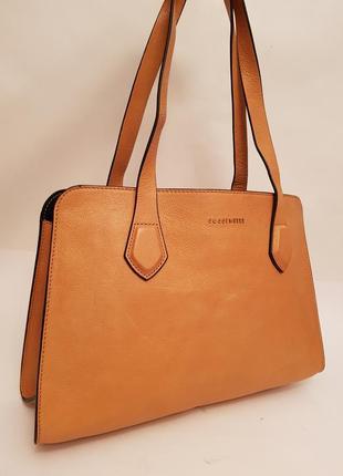 Coccinelle! оригинал! роскошная дизайнерская кожаная сумка тоут  🌻🌻🌻