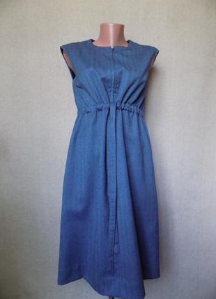 Супер платье для офиса с завышенной линией талии