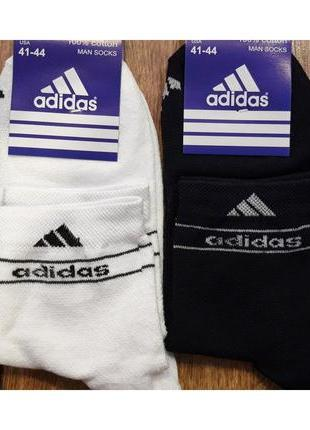 """Чоловічі шкарпетки стрейч.(сітка)""""adidas"""" середні 41-44 асорті"""