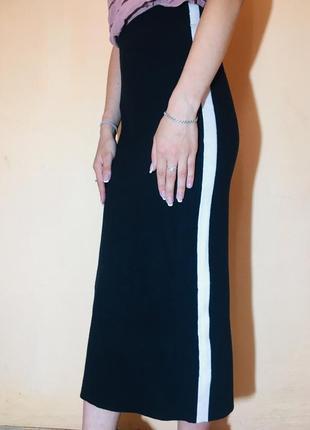 Длинная юбка с лампасами от clockhouse