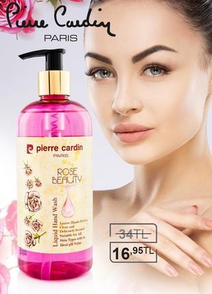 Pierre cardin liq. hand wash 400ml-rose жидкое мыло для рук