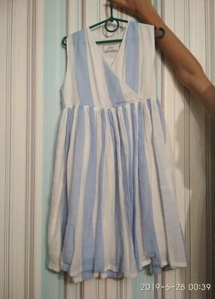 Сарафан платье батистовое в модную полоску