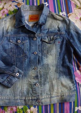 Replay джинсовая куртка оверсайз камуфляжная расцветка