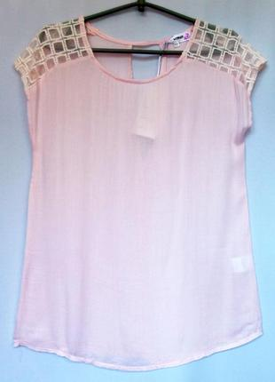 Суперцена. стильная блуза футболка. цвет пудра. новая, р. s-xl