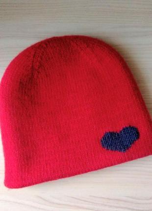 Двойная зимняя шапка для девочки, 50-52