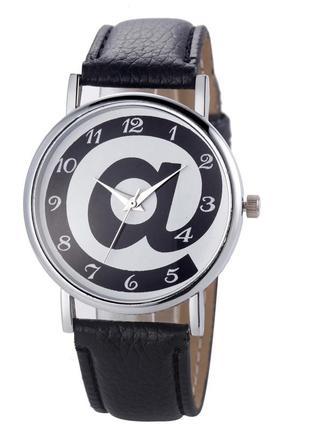 Женские наручные часы кварцевые черные, черного цвета, черно-белые