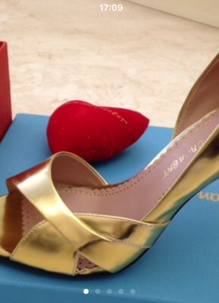 1662fd83461a41 Jean-michel cazabat туфельки цвет благородное золото (платина)от француз  дизайнера, 38р