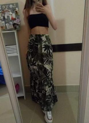 Супермодная юбка с рюшей макси