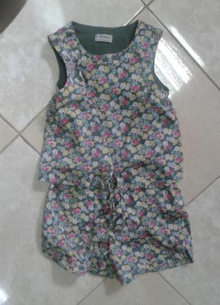 Легкий  цветочный комбинезон ромпер jumpsuit 6-7 лет next