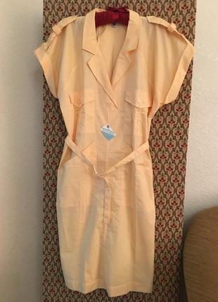 Платье рубашка сафари хлопок натуральная батал