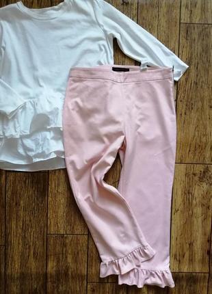 Супер брюки с оборками от zara