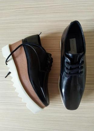 fa66b1303 Туфли, лоферы на высокой подошве в стиле стеллы маккартни, натуральная кожа