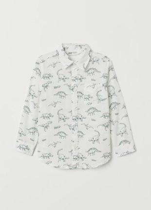 Рубашка с принтом динозавров