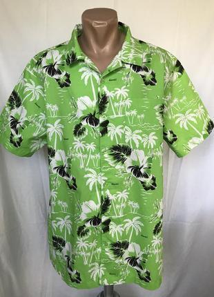 Рубашка салатовая гавайская