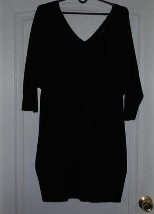 Интересная  кофточка-туника.платье  с карманами v вырезами