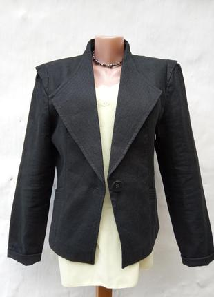 Новый стильный черный 💯 льняной жакет💃🏻👑💐,пиджак.