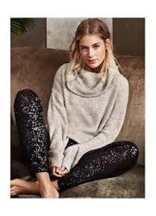 Шерстяной свитер с воротником-хомутом h&m
