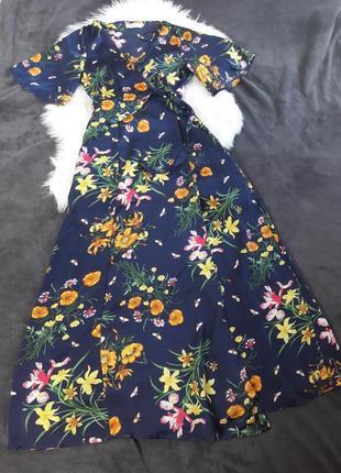 Макси платье на запах