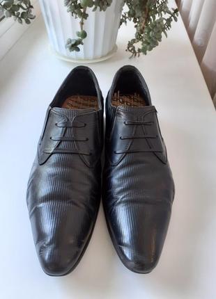 Туфли мужские sigo fusion черные кожаные