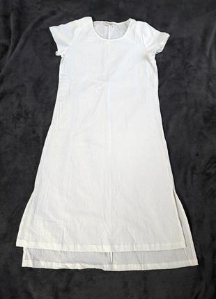Летняя туника платье лен хлопок