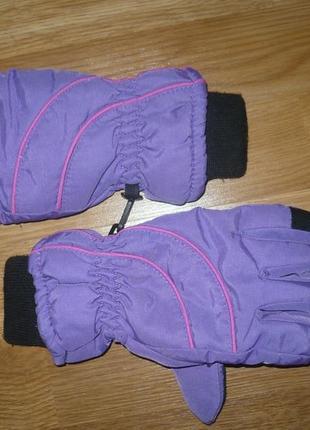 Перчатки лыжные детские 8-12 лет сиреневые