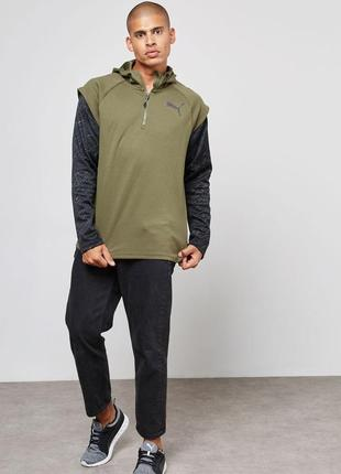 Толстовка худи puma 1/4 zip energy hoodie, оригинал, р.s
