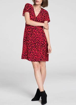 Платье сарафан из вискозы анималистический принт