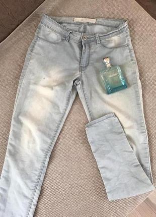 Тонкие голубые джинсы#брюки