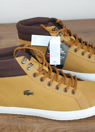 Зимние водонепроницаемые ботинки lacoste straightset 318 3 cam, 45 размер