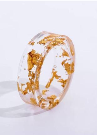 Колечко кольцо акрил золото тренд