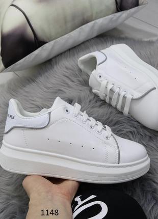 5e2b63db72cdf5 Белые кеды в стиле alexander mcqueen,белые летние кроссовки на платформе.