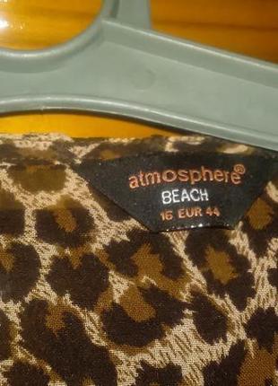 Шифоновая  тигровая пляжная туника3 фото