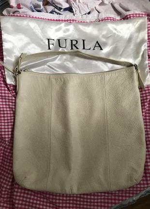 Furla оригинал сумка белая италия кожа фурла