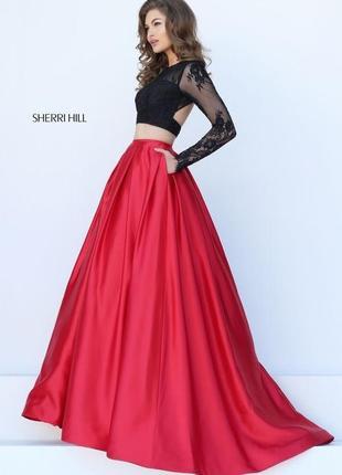 Выпускное платье {длинная юбка , кроп-топ} sherri hill вечернее платье , платье в пол