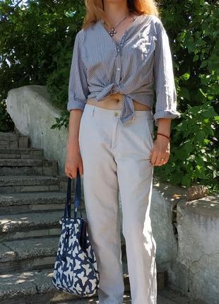 Стильная блузка рубашка хлопок р. 46 m -l biaggini