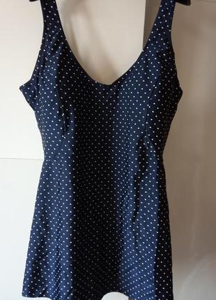 Элегантный купальник -платье с лайкрой 7xl (наш 62 р.) slimtru, англия